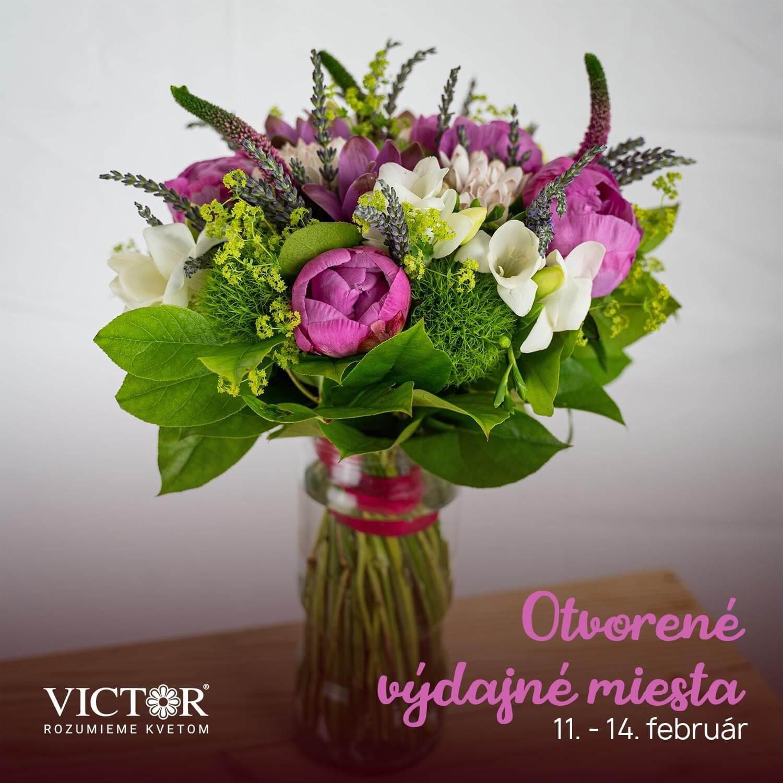 Predajňa Kvety Victor od 11.-14.2. funguje ako výdajné miesto