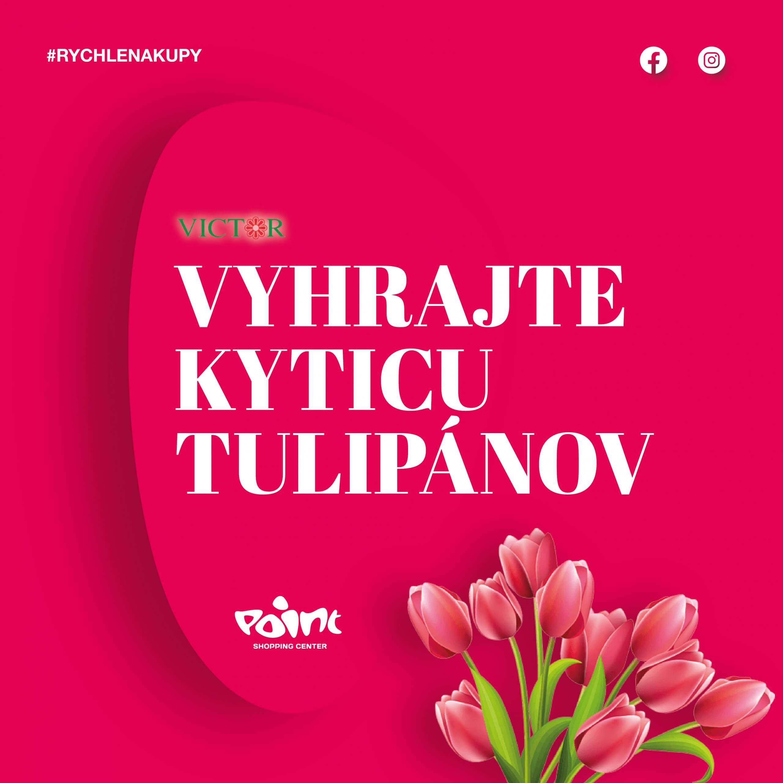 Vyhrajte kyticu tulipánov